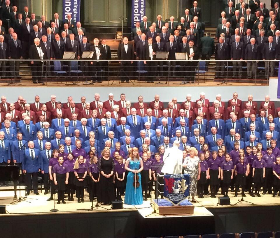 Jody Smith guest soloist at Canoldir Male Choir 50th Annual Concert at Birmingham Town Hall